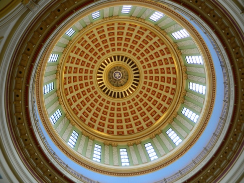 Interior of the Oklahoma State Capitol dome (photo courtesy @jennifrwhite)