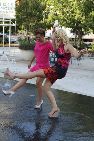 Find a fountain to play in--and your inner child (photo courtesy Memories by Sandra D)