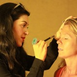 Taylor Ledbetter provided professional make-up for volunteer models
