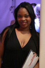Cache' stylist Erica Moore volunteered for behind the scenes production assistance